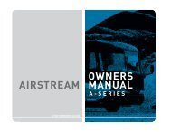 OWNERS MANUAL AIRSTREAM OWNERS MANUAL