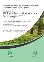 Oil Palm Practical Innovative Oil Palm Practical Innovative ... - MOSTA