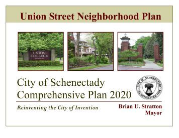 Union Street Neighborhood Plan - City of Schenectady