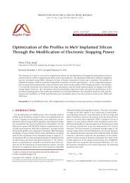 Optimization of the Profiles in MeV Implanted Silicon Through the ...