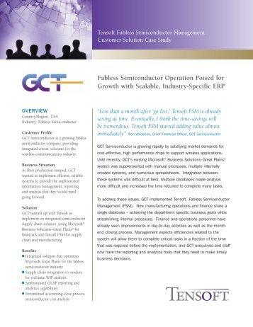 Case Study: GCT Semiconductor - Tensoft
