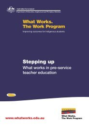 Stepping Up: What works in pre-service teacher education