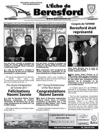 BERESFORD #32 octobre 2008 - Canadamunicipal.ca