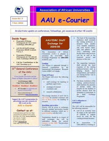 AAU e-Courier - Association of African Universities