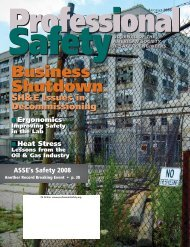 Safety 2008 - ASSE - American Society of Safety Engineers