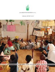 2010 Annual Report: Health - PartnershipsInAction
