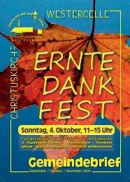 Ausgabe 2009: Sept / Okt / Nov - Kirchengemeinde Westercelle