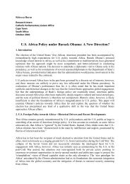 U.S. Africa Policy under Barack Obama: A New Direction?