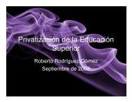 Privatizar - Seminario de Educación Superior de la UNAM