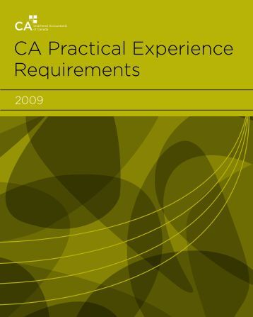 CA Practical Experience Requirements
