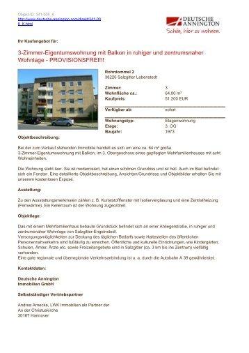 3-Zimmer-Eigentumswohnung mit Balkon in ruhiger und ...
