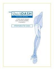 QuickDASH Outcome Measure - wsib