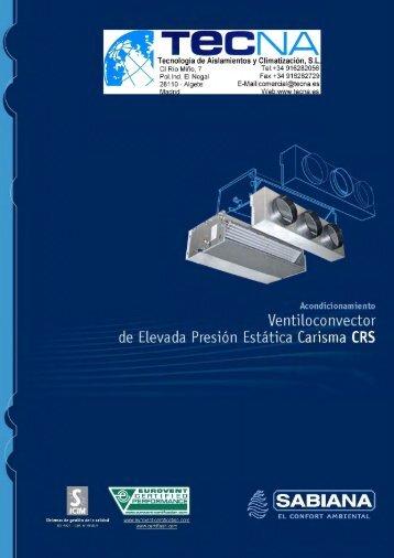 SABIANA canalizables (80 Pa), Serie CRS - Tecna