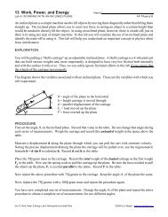 Lab A: Working with an Inclined Plane