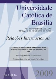 Relações Internacionais - Universidade Católica de Brasília