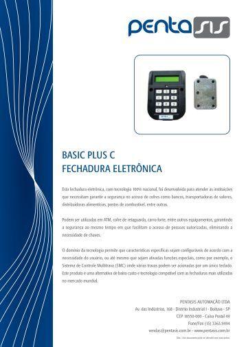 BASIC PLUS C FECHADURA ELETRÔNICA - Pentasis