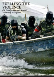 Fuelling the Violence: Oil Companies and Armed Militancy ... - Platform