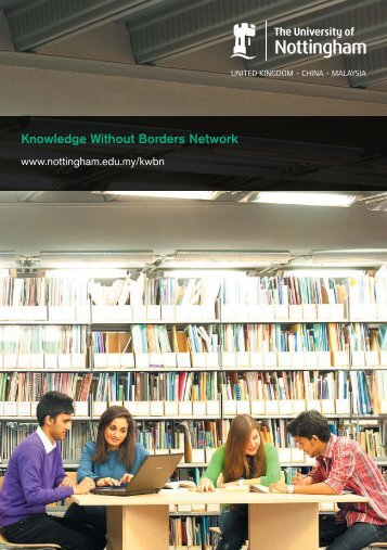 Knowledge Without Borders Network brochure - The University of ...