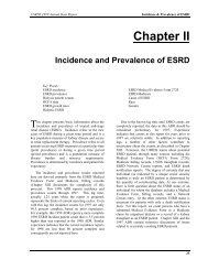 Incidence and Prevalence of ESRD - United States Renal Data System