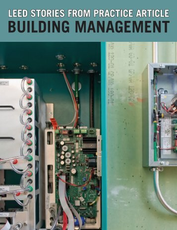 BUILDING MANAGEMENT - US Green Building Council