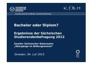 Bachelor oder Diplom? - Technische Universität Dresden