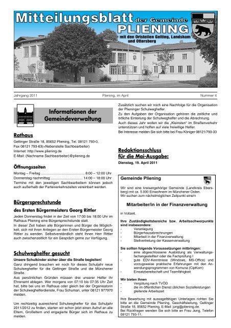 Vuizbandoffen Sprecher Hans Piesenecker Gemeinde Pliening