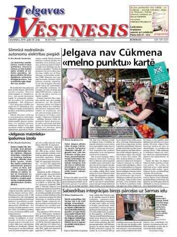 Jelgava nav Cūkmena «melno punktu» kartē - Jelgavas Vēstnesis