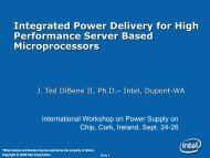 Integrated Power Delivery for High Performance Server Based ...