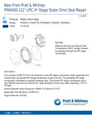 11-21-2005—PW4000-112 LPC 4th Stage Stator ... - Pratt & Whitney