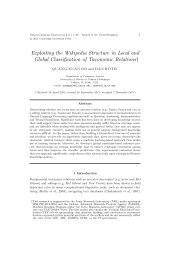 Exploiting the Wikipedia Structure in Local and Global - Cognitive ...