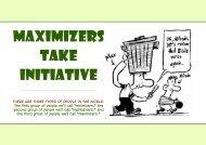 Maximizers Take Initiative - T F I O n l i n e