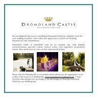 Classic Canapés - Dromoland Castle Hotel