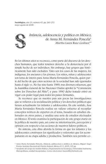 Infancia, adolescencia y política en México, de Anna M. Fernández ...