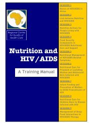 Nutrition and HIV/AIDS: A Training Manual - Linkages Project