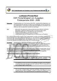 Leitfaden/Förderfibel ESF-Förderfähigkeit von ... - ECG GmbH Berlin