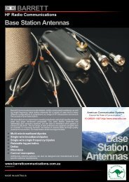 Base Station Antennas - American Communication Systems