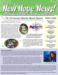 The 17th Annual Celebrity Mascot Games!! - New Hope for Kids