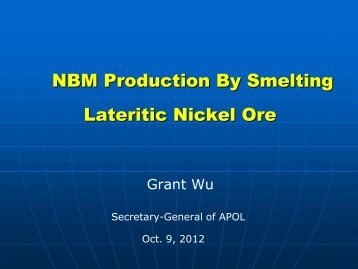 NBM Production By Smelting Lateritic Nickel Ore - International ...