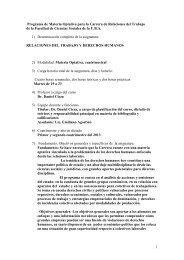 programa 2013 cátedra CIEZA - Carrera de Relaciones del Trabajo ...