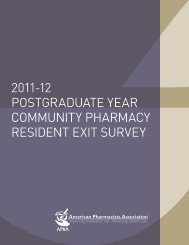 2011-12 Residency Exit Survey - American Pharmacists Association