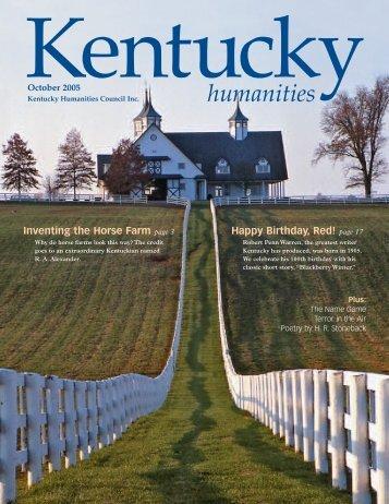 October 2005 - Kentucky Humanities Council