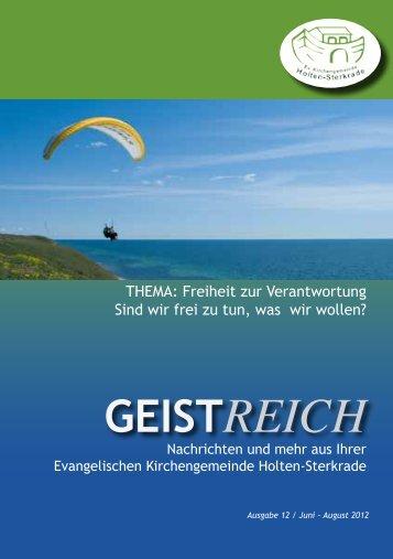 GeistReich 3/2012 - Evangelische Kirchengemeinde