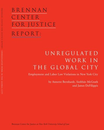 Unregulated Work in the Global City