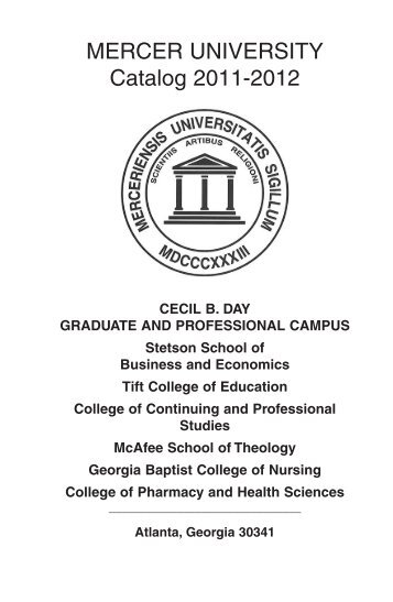 Atlanta Campus Catalog 2011-2012 - Mercer University