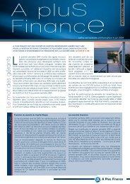 Lettre d'information 2009 S1 - Haussmann Patrimoine