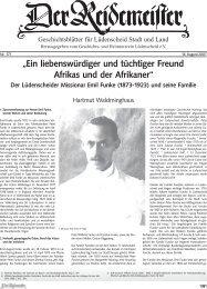 """""""Ein liebenswürdiger und tüchtiger Freund Afrikas und der Afrikaner"""""""