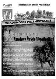 Wiadomości Przemkowskie numer 11/2009 - Listopad ... - Przemków