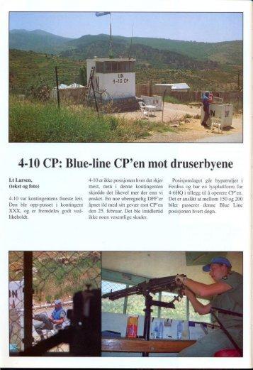 4-10 CP: Blue-line CP'en mot druserbyene