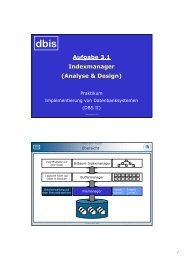 Aufgabe 3.1 Indexmanager (Analyse & Design) - dbis