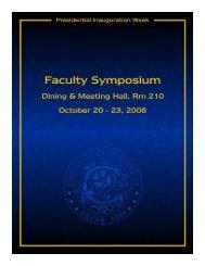 Symposium Document - Coppin State University